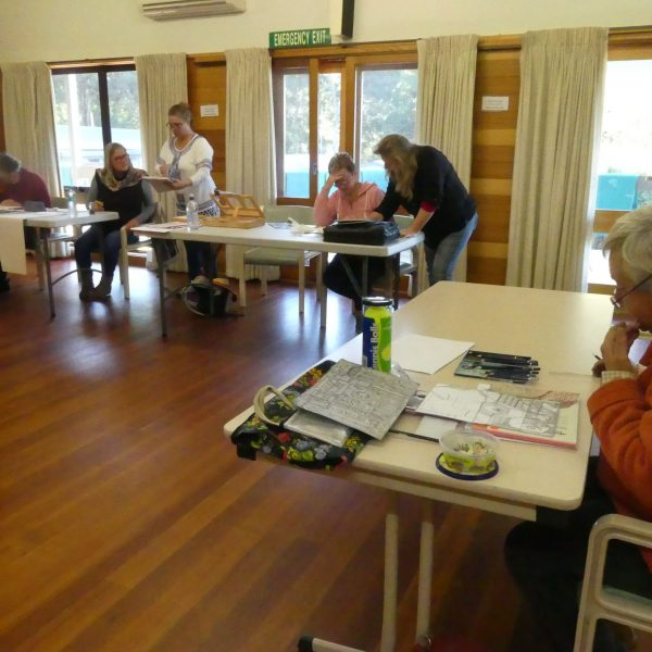 Art Group in a training session